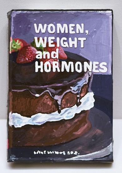 JEAN LOWE, WOMEN, WEIGHT AND HORMONES enamel on papier mache