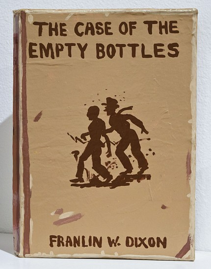 JEAN LOWE, THE CASE OF THE EMPTY BOTTLES enamel on papier mache