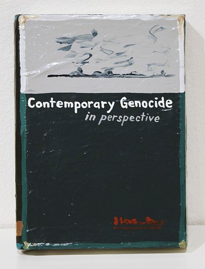 JEAN LOWE, CONTEMPORARY GENOCIDE IN PERSPECTIVE enamel on papier mache