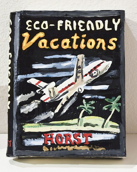 JEAN LOWE, ECO-FRIENDLY VACATIONS enamel on papier mache