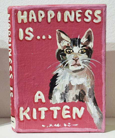 JEAN LOWE, HAPPINESS IS A KITTEN enamel on papier mache