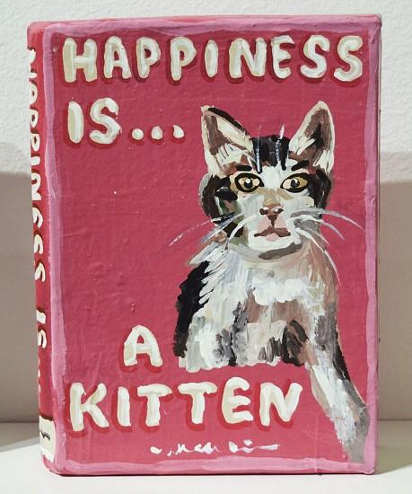 JEAN LOWE, HAPPINESS IS A KITTEN enamel on papier mache
