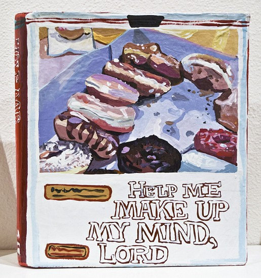JEAN LOWE, HELP ME MAKE UP MY MIND, LORD enamel on papier mache