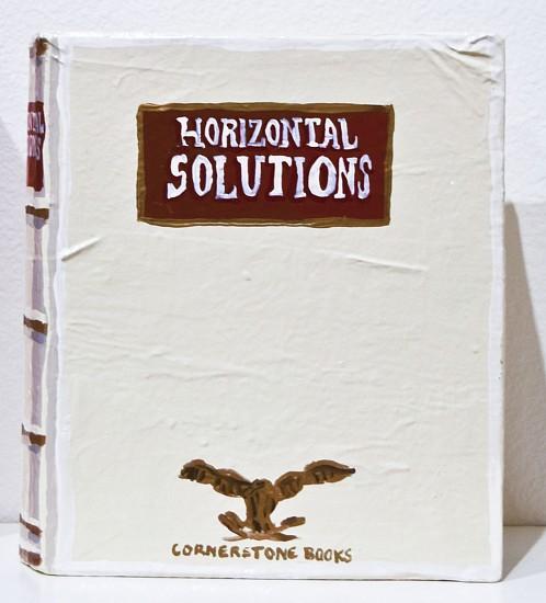 JEAN LOWE, HORIZONTAL SOLUTIONS enamel on papier mache