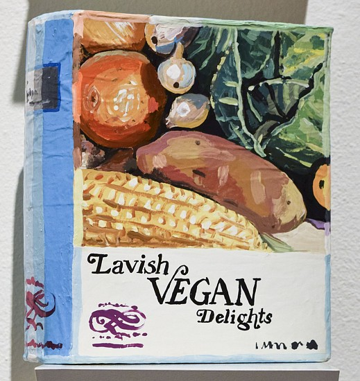 JEAN LOWE, LAVISH VEGAN DELIGHTS enamel on papier mache