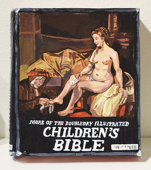JEAN LOWE, MORE OF THE DOUBLEDAY ILLUSTRATED CHILDREN'S BIBLE enamel on papier mache