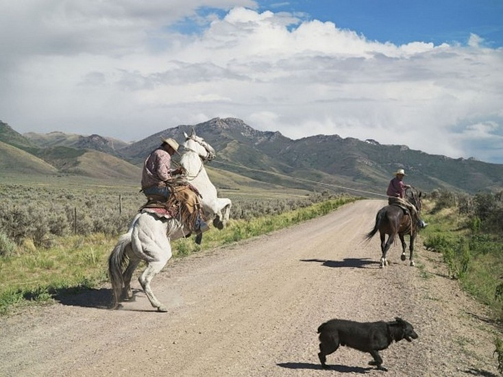 LUCAS FOGLIA, FRONTCOUNTRY CASEY AND ROWDY HORSE TRAINING, 71 RANCH, DEETH, NEVADA  AP1 digital C-print on Fuji Crystal Archive paper