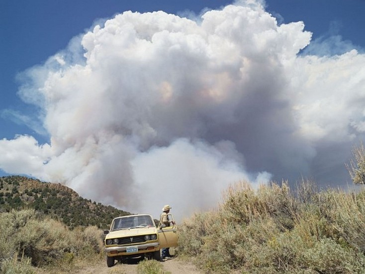 LUCAS FOGLIA, FRONTCOUNTRY GEORGE CHASING WILDFIRES, EUREKA, NEVADA Ed.8 digital C-print on Fuji Crystal Archive paper