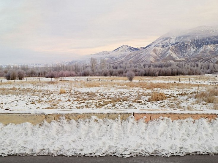 LUCAS FOGLIA, FRONTCOUNTRY TETON NATIONAL FOREST AND ROAD BARRIER, JACKSON WYOMING Ed.8 digital C-print on Fuji Crystal Archive paper