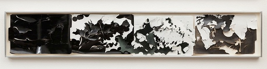 JUDY PFAFF, MERGE WITH DUST AND DARK cut and dyed file folders