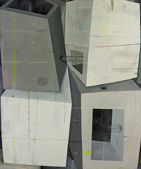 DEBORAH ZLOTSKY, ALBERTO AND DENISE AT 4 AM oil on canvas