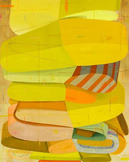 DEBORAH ZLOTSKY, ARRIVALS AND DEPARTURES oil on canvas