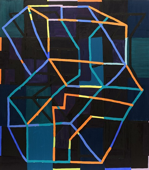 JASON KAROLAK, UNTITLED (P-1509) oil on canvas