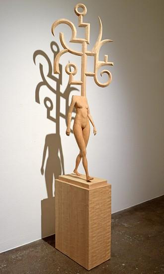 JOHN BUCK, THE STROLL jelutong wood with pedestal