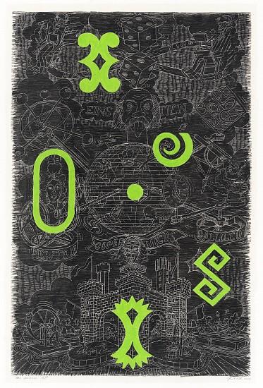 JOHN BUCK, THE UNIVERSE ED. 5 woodblock rubbing