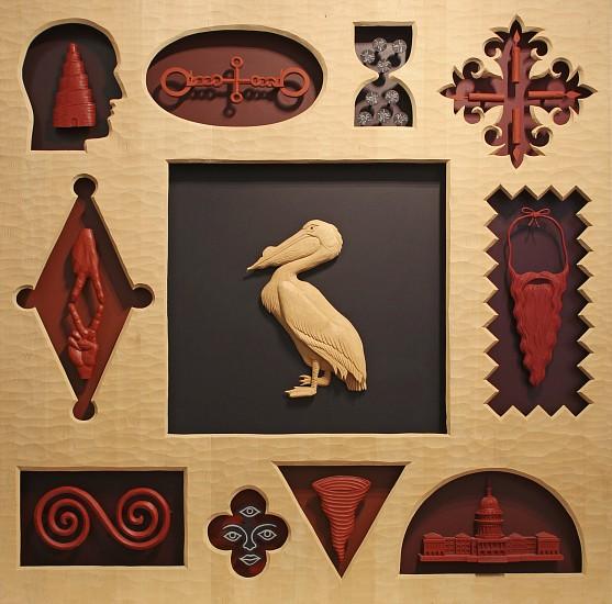 JOHN BUCK, HUGO jelutong wood w/ acrylic
