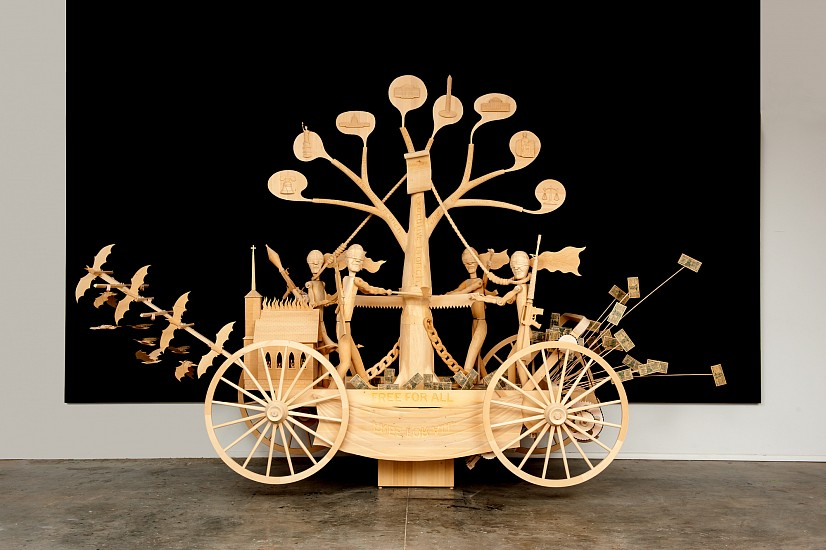 JOHN BUCK, STATE OF THE UNION jelutong wood, leather and motor
