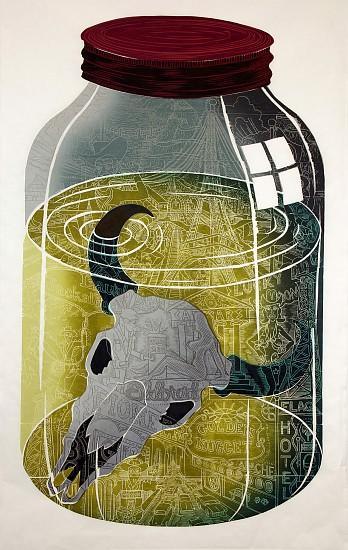 JOHN BUCK, HIGH WATER ED.15 woodblock print