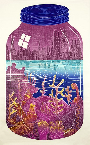 JOHN BUCK, THE REEF ED.15 woodblock print