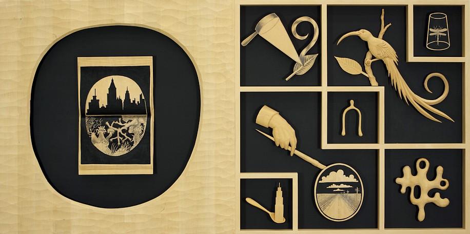 JOHN BUCK, THE DIARY jelutong wood w/ acrylic