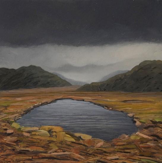 JIM CURSLEY, ALASKA oil on panel