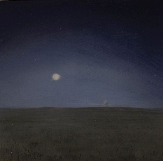 JIM CURSLEY, CALIFORNIA NIGHT oil on panel
