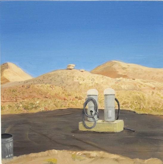JIM CURSLEY, CAR WASH, PAGE, AZ oil on panel