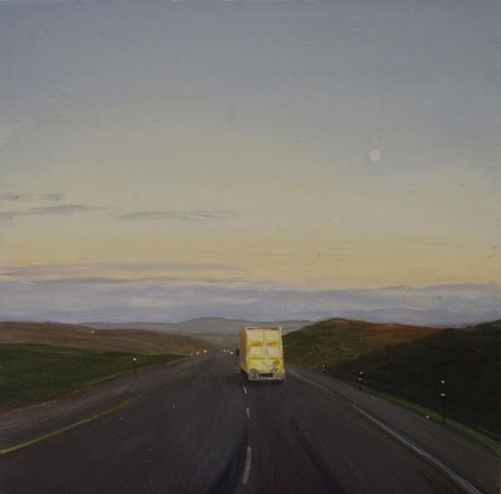 JIM CURSLEY, I-80 oil on panel