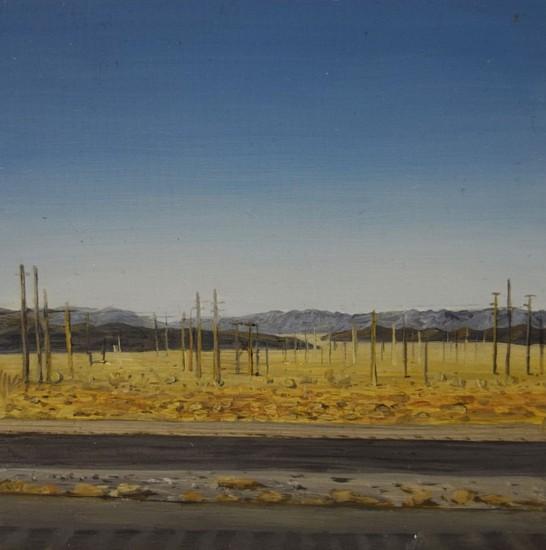 JIM CURSLEY, OUTSIDE LAS VEGAS oil on panel