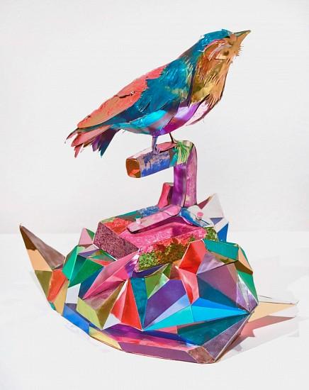 OLIVER HERRING, BLUEBIRD #2 (METALLIC) digital C-print photographs on metallic archival paper, museum board, foam core and polystyrene