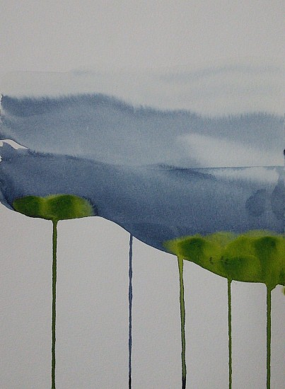 NIKKI LINDT, MELTING LANDSCAPES #1 watercolor on paper