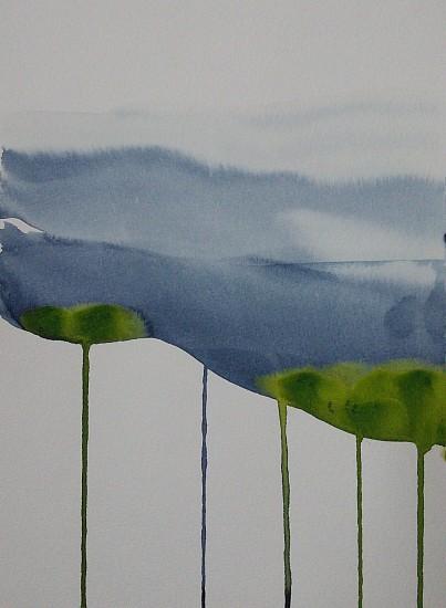 NIKKI LINDT, MELTING LANDSCAPES #1 watercolor on paper