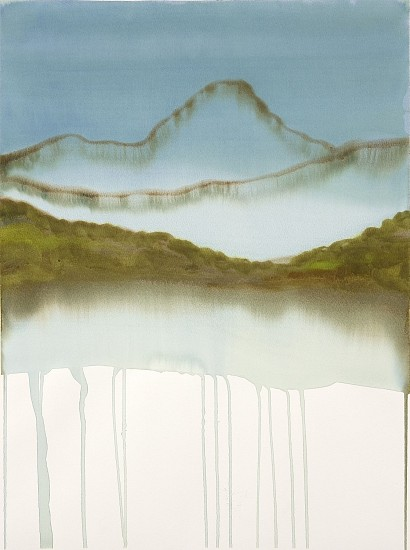 NIKKI LINDT, MELTING LANDSCAPES #2 watercolor on paper