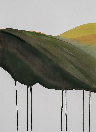 NIKKI LINDT, MELTING LANDSCAPES #6 watercolor on paper