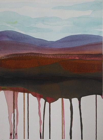 NIKKI LINDT, MELTING LANDSCAPES #11 watercolor on paper