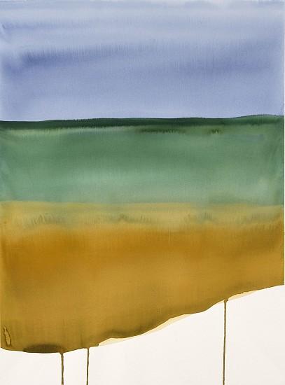 NIKKI LINDT, MELTING LANDSCAPES #15 watercolor on paper