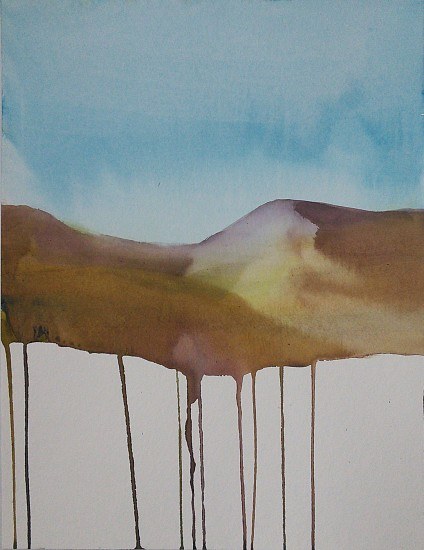 NIKKI LINDT, SOLASTALGIA MELTING LANDSCAPES #8 watercolor on paper