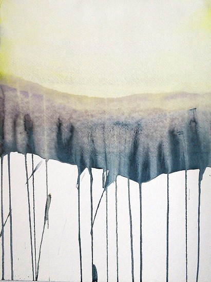 NIKKI LINDT, SOLASTALGIA MELTING LANDSCAPES #12 watercolor on paper