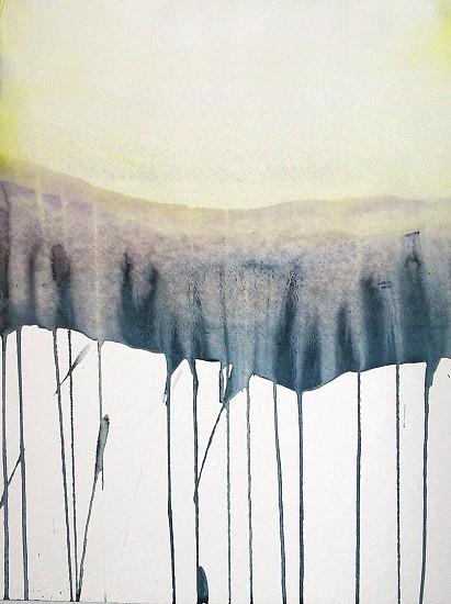 NIKKI LINDT, SOLASTALGIA MELTING LANDSCAPES #12 watercolor on paper