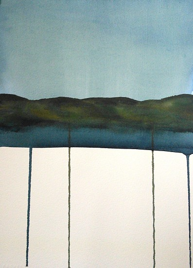 NIKKI LINDT, SOLASTALGIA MELTING LANDSCAPES #14 watercolor on paper