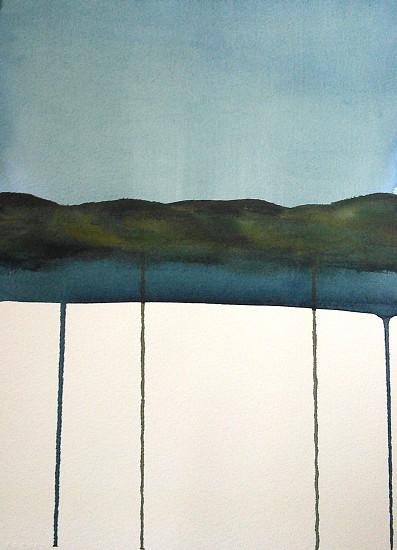 NIKKI LINDT, SOLASTALGIA MELTING LANDSCAPES #14 watercolor on paper