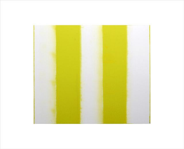 BETTY MERKEN, STRIPES, CITRON oil monotype