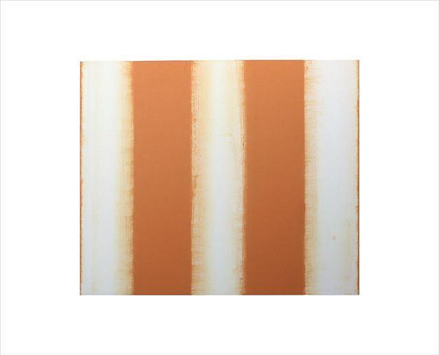 BETTY MERKEN, STRIPES, ORANGE oil monotype