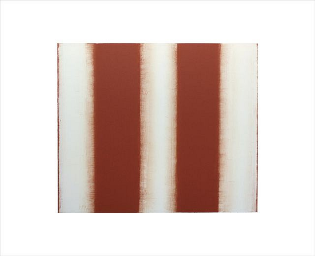 BETTY MERKEN, STRIPES, TERRA COTTA oil monotype