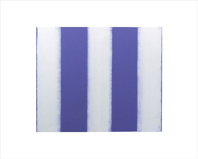 BETTY MERKEN, STRIPES, VIOLET oil monotype