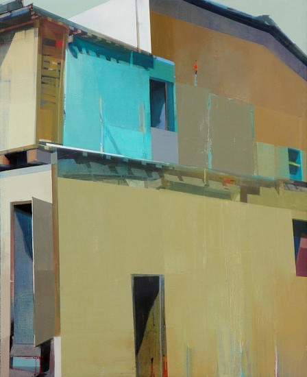 SUHAS BHUJBAL, A QUIET TOWN # 139 oil on canvas