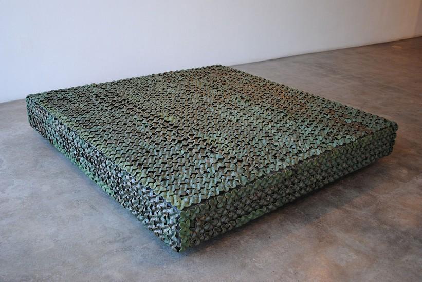 KIM DICKEY, SLAB aluminum, glazed terracotta, silicone, rubber, grommets