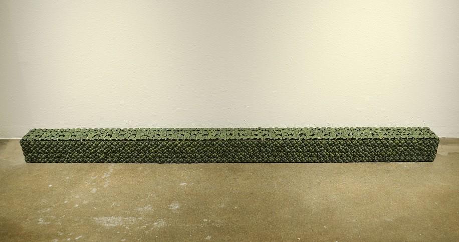 KIM DICKEY, I BEAM aluminum, glazed terracotta, silicone, rubber, grommets