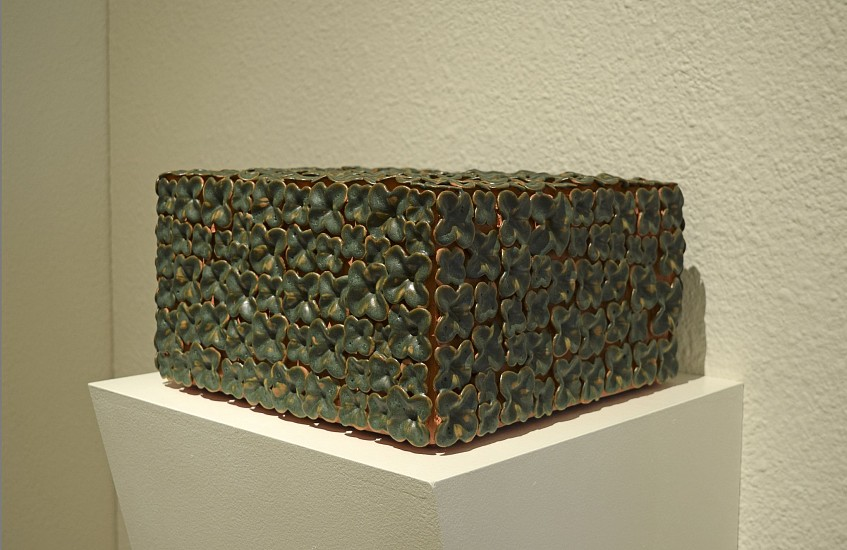 KIM DICKEY, GROTTO (BOX WITH THE SOUND OF ITS OWN MAKING) glazed  terracotta