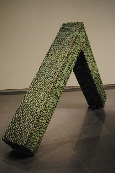 KIM DICKEY, INVERTED L BEAM aluminum, glazed terracotta, silicone, rubber, grommets